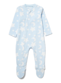 Blue Moons and Stars Sleepsuit (0-24 months)