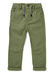 Khaki Textured Trousers (9 months-6 years)