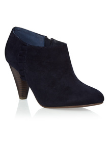 Black Cone Heel Ankle Boots