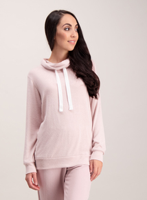 Dusky Pink Cowl Neck Pyjama Top