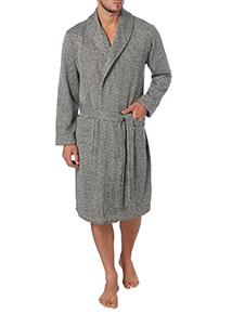 Grey Herringbone Dressing Gown