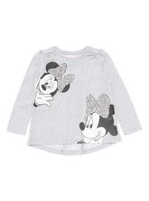 Kids Grey Disney Minnie Sequin Top (9 months-5 years)
