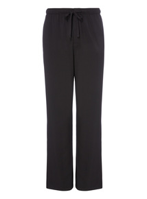 Black Modal Jersey Trousers