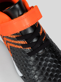 Orange & Black Football Boots (6 infant - 4 child)