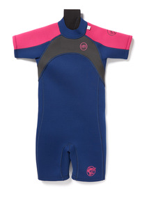 Navy and Pink Short Wetsuit