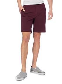 Dark Red Basic Chino Shorts