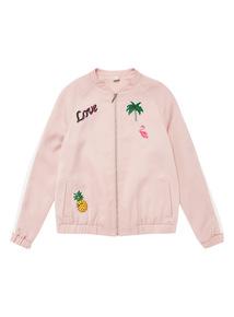 Pink Badge Bomber Jacket (3 - 12 years)