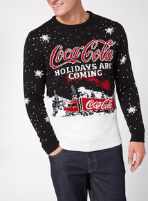Black Christmas Coca Cola Jumper