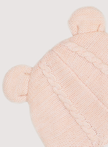 Pink Cable Knit Hat (Newborn-2 Years)