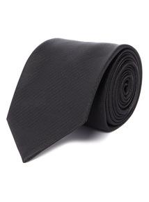 Black Herringbone Tie