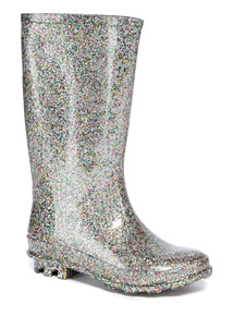 Silver Glittery Wellies