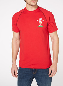 Official Licensed Wales Rugby Red Tee