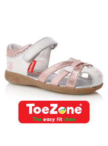 Girls Leather ToeZone Sandals
