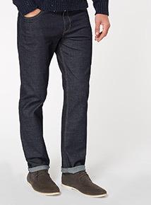 Denim Rinse Wash Straight Jeans