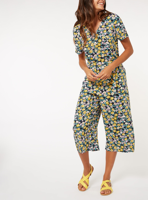 Multicoloured Floral Print Jumpsuit