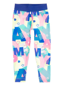 Girls Multicoloured Letter Leggings (9 months - 6 years)