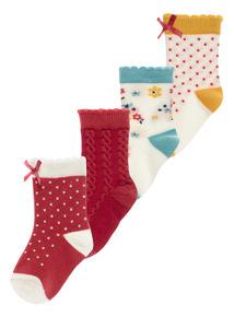 Winter Blossom Socks 4 Pack