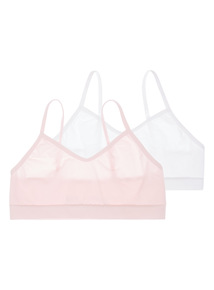 Multicoloured Seam Free Crop Tops 2 Pack (4 - 12 years)