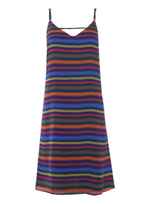 Multicoloured Striped Cami Dress