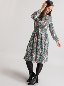 Premium Multicoloured Floral Midi Dress