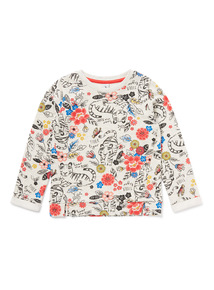 Multicoloured Floral Tiger Print Sweatshirt (9 months-6 years)