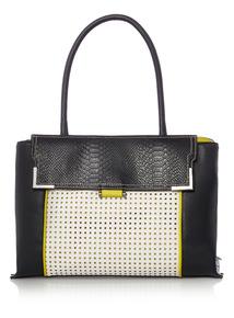 Black Cutwork Bag