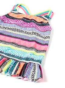 Multicoloured Printed Tankini