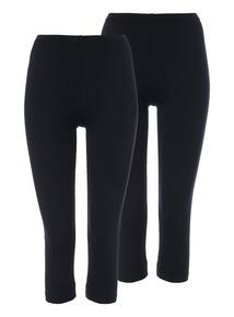 Black Crop Leggings 2 Pack
