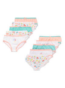 10 Pack Multicoloured Ice Cream Briefs (2-12 years)
