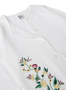 White Floral Embroidered Cardigan (3-14 years)