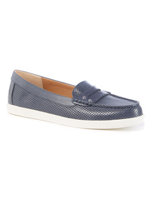 Sole Comfort Navy Leather Penny Loafer