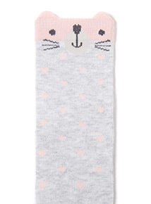 4 Pack Pink Cat Socks (1-24 months)