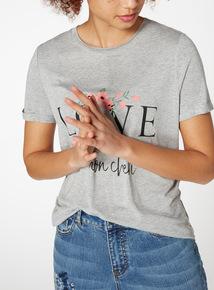Love Slogan T-Shirt