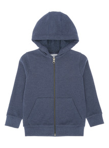 Boys Navy Picot Hoody (3-14 years)