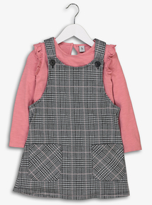 Multicoloured Check Pinafore & Top Set (3-14 years)