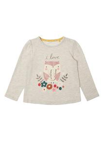 Cream Owl Print Tee (0-24 months)