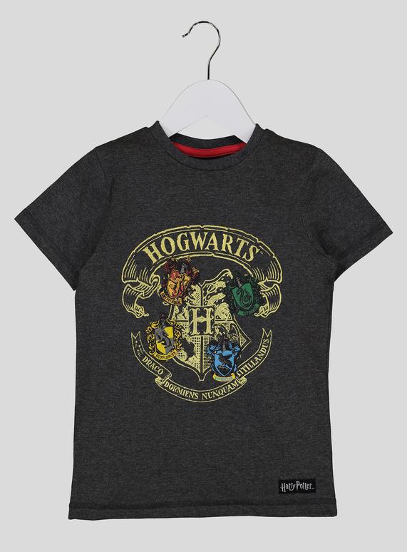 41c391281 Kids Harry Potter Grey Hogwarts T-Shirt (3-12 years) | Tu clothing