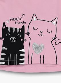 Pink 'Purrrfect Friends' Kitty Top