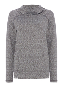 Grey Cowl Neck Sweat