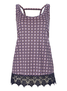 Printed Sleeveless Vest Top
