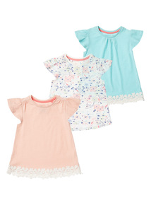 Multicoloured Spring Bird Tops 3 Pack (9 months - 6 years)