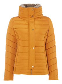 Yellow Quilted Padded Jacket