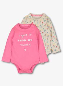 041c2946f9 Multicoloured Long-Sleeved Mum Bodysuits 2 Pack (0-24 months)