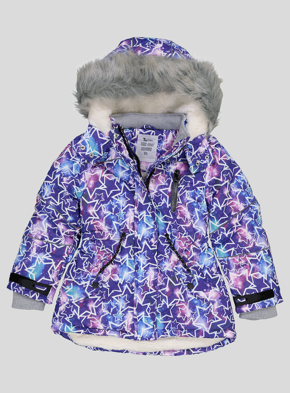 5ef2a994fac0 Kids Purple Star Print Padded Jacket (3 - 14 years)