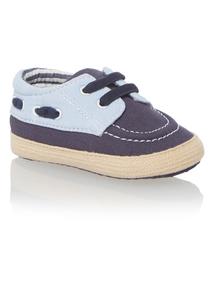 Boys Blue Boat Shoes (0-24 months)