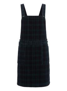 Navy Check Pinafore Dress