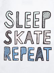 Grey Sleep, Skate, Repeat Pyjamas (3-14 years)