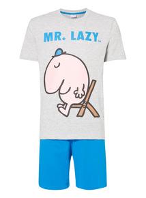 Multicoloured Mr. Lazy PJ Set