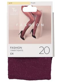 Purple Sparkle 20D Tights