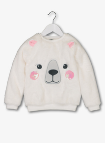 White Polar Bear Fleece Jumper (9 Months - 6 Years)